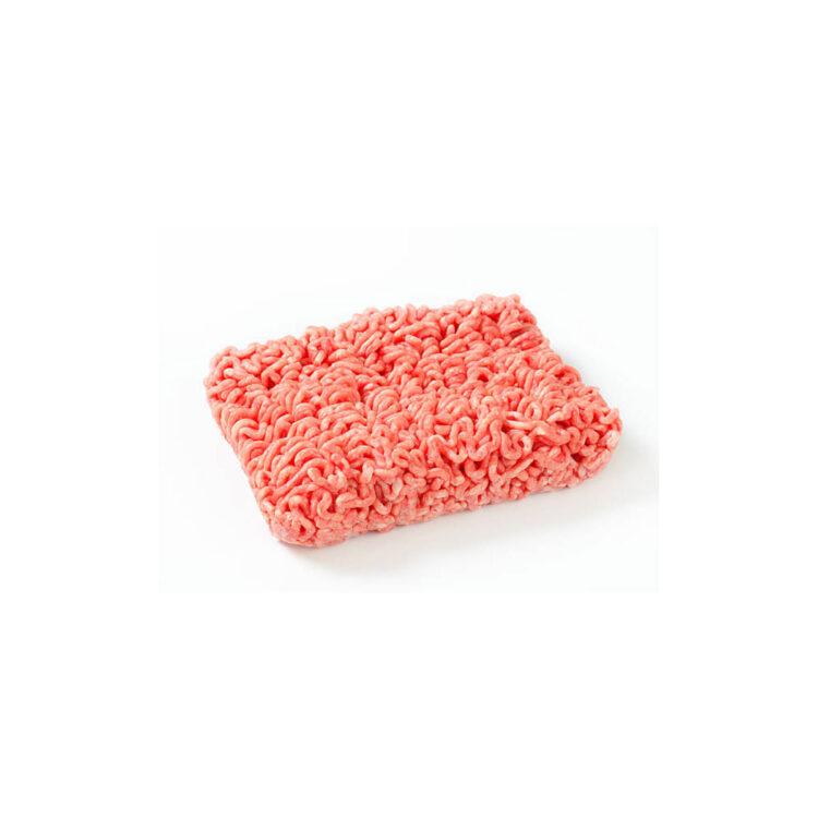 Sertéshús darálva 80%-os műbélben 3mm előhűtött