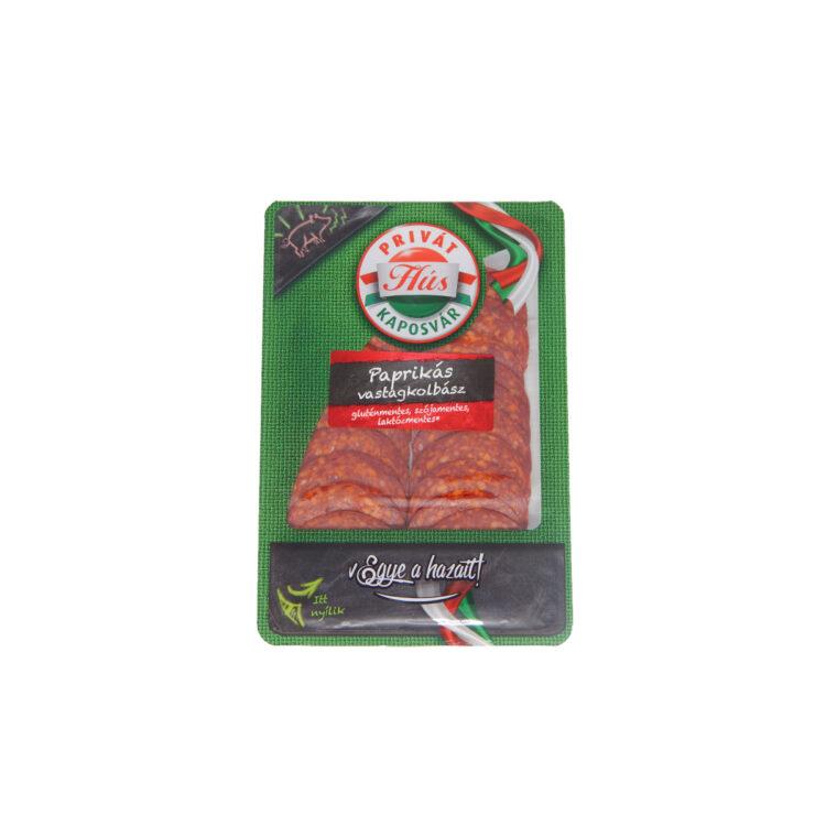 Privát hús paprikás vastag kolbász szeletelet 60g védőgázban