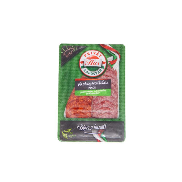 Privát hús vastagkolbász mix szeletelt 60g védőgázban